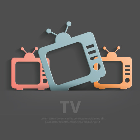 TV symbol,Blank for your text,clean vector Vector