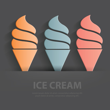 soft serve ice cream: Ice cream symbol,Blank for your text,clean vector Illustration