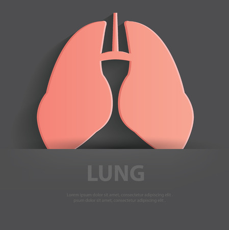 Lung symbol,Blank for your text,clean vector Vector