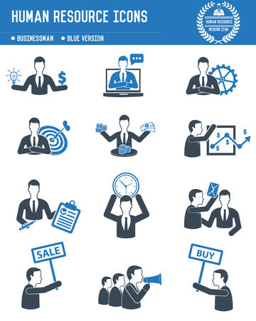 Human resource,Business concept on white background,blue version,clean vector 矢量图像
