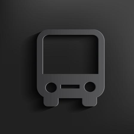 Bus symbol on black background,clean vector Vector