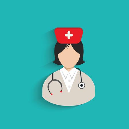 doctor symbol: Doctor symbol on blue background,clean vector Illustration