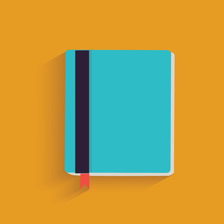 Book symbol on yellow background,clean vector Vector