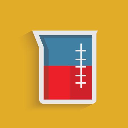 Beaker symbol on orange background Illustration