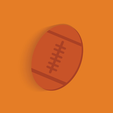 Rugby symbol on orange background,clean vector Vector