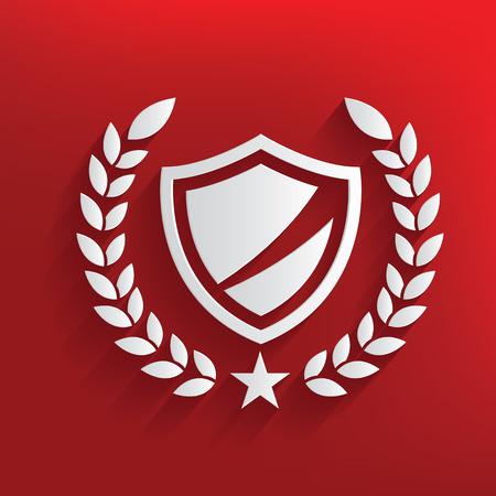 Safety concept on red background,clean vector Vector