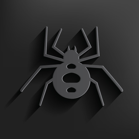 revolting: Spider symbol on black background,clean vector Illustration