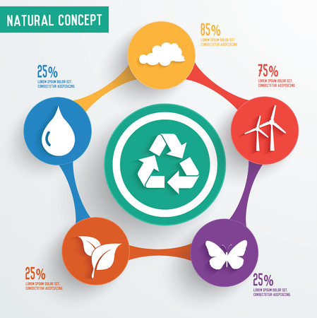 Ecology and natural design,clean vector