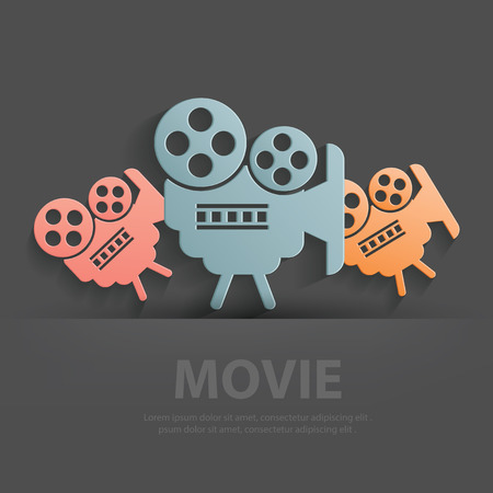 Movie symbol,Blank for your text,clean vector Vector