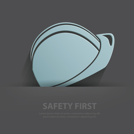 hard cap: Safety hat symbol,Blank for your text