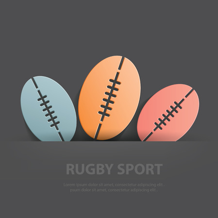 rugby field: Rugby symbol,Blank for your text