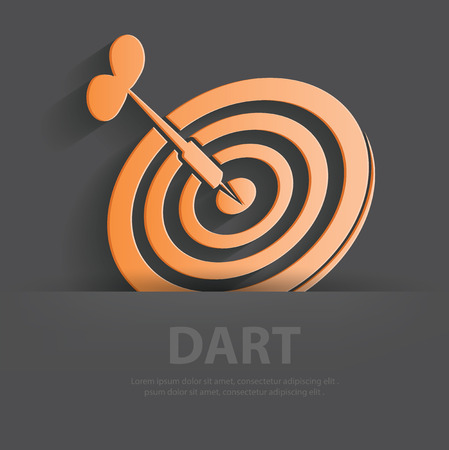 Dart symbol,Blank for your text Vector