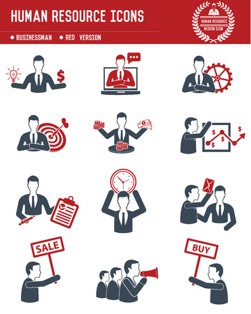Human resource,Business concept on white background Vector