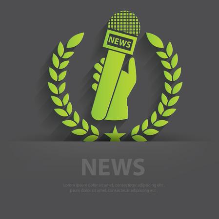 spokesperson: News symbol,clean vector