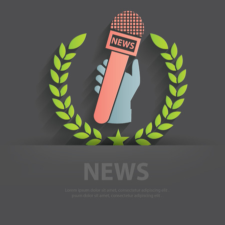 spokesperson: News symbol illustration
