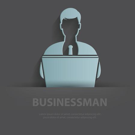 irritation: Businessman illustration Illustration
