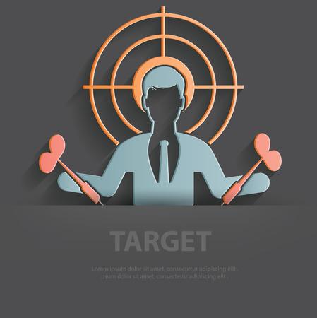 sports symbols metaphors: Target illustration