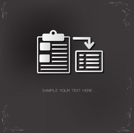 documentation: Duplication symbol on dark background,vector