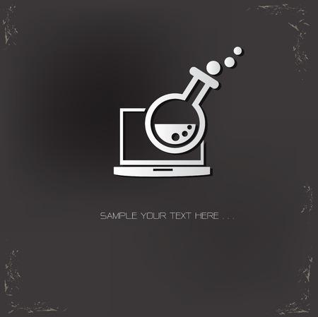 marktforschung: Das Marktforschungsunter Symbol auf dunklem Hintergrund, Vektor- Illustration