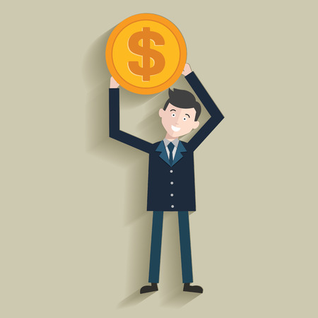 money management: Money management,Human resource,Businessma n design,clean vector