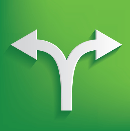 Arrow on green background,clean vector