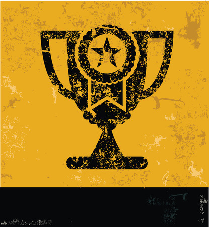 yellow vector: Trophy design on yellow background,yellow vector