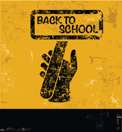 yellow vector: Back to school design on yellow background,yellow vector