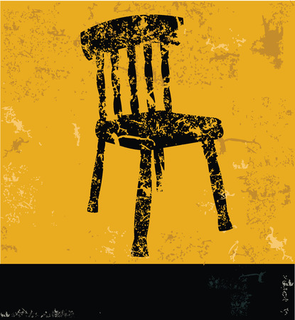 yellow vector: Chair design on yellow background,yellow vector