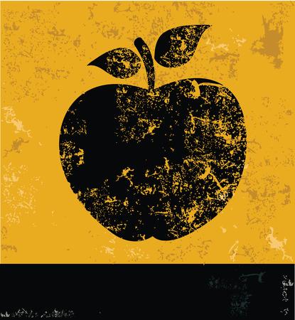 yellow vector: Apple design on yellow background,yellow vector