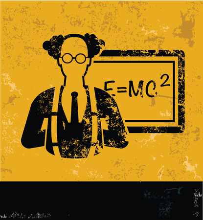 yellow vector: Science design on yellow background,yellow vector Illustration