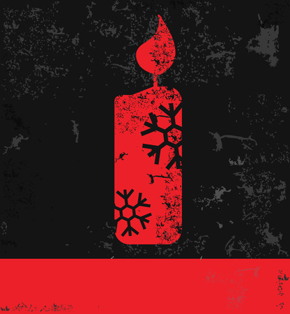 scented candle: Candle Xmas design, grunge