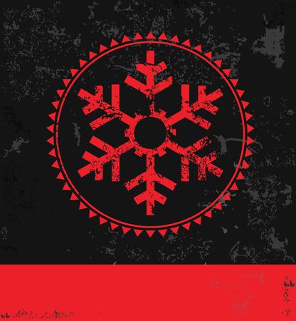 stockinet: Xmas snowflake design, grunge Illustration