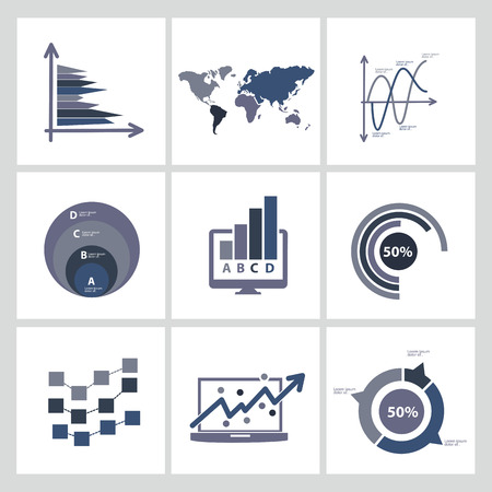 Analysis,Business and economic icon set,clean vector Vector