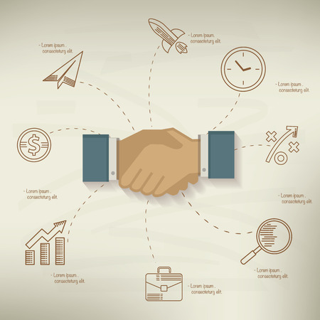 Shake hand,Business design Vector