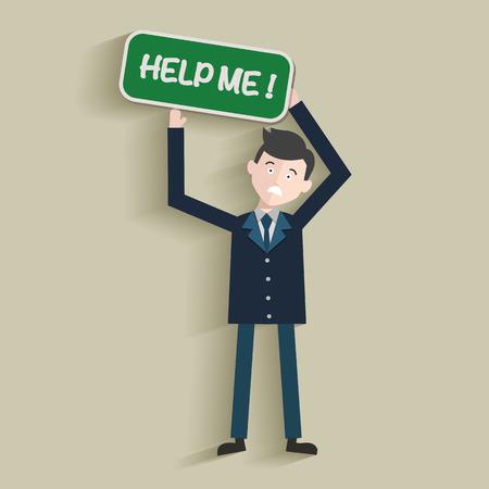 mayday: Help me,Human resource,Businessma n design,clean vector