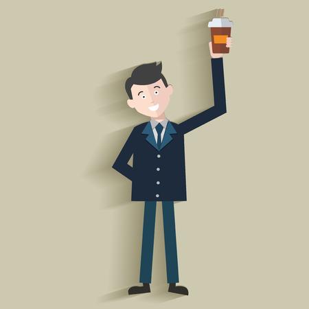 big break: Coffee time,Human resource,Businessma n design,clean vector Illustration