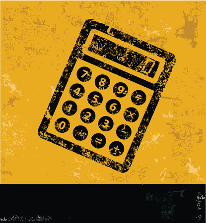 yellow vector: Calculate design on yellow background,yellow vector