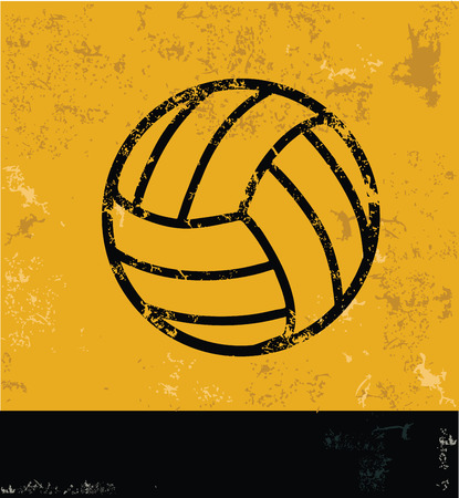 Volleyball design on yellow background,yellow vector Vector