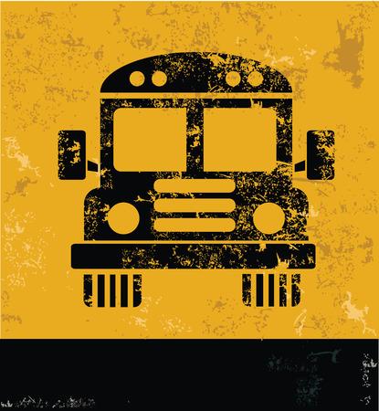 Schoolbus ontwerp op gele achtergrond, geel vector