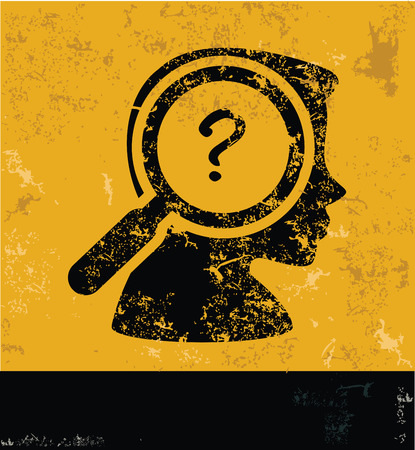 Question design on yellow background