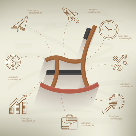 retirement: Retire concept,info graphic design on old paper background,clean vector Illustration