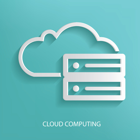 sql: Cloud data design,blue version,clean vector Illustration