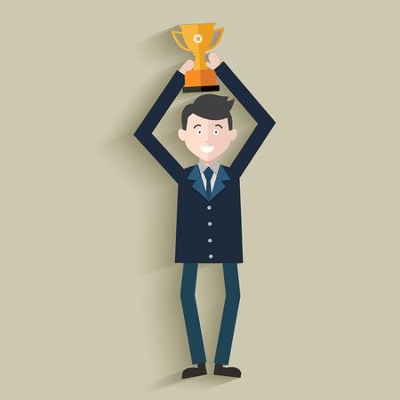 rewarded: Premio, recursos humanos, Businessma n dise�o, vector limpio Vectores