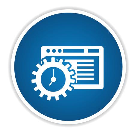 青色のボタン、きれいなベクトル ソフトウェア アイコン  イラスト・ベクター素材