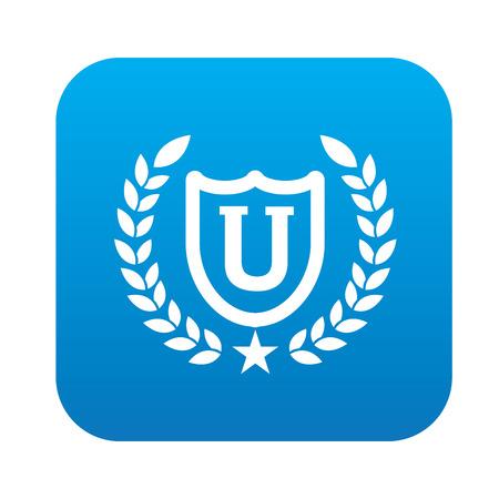 University design,blue version,clean vector