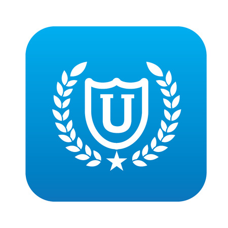 University design,blue version,clean vector