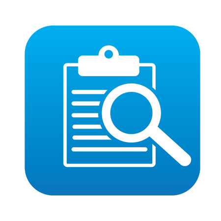 Document on blue flat button