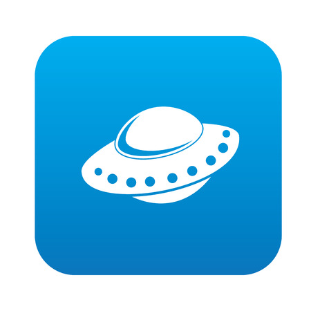 UFO design,blue version,clean vector