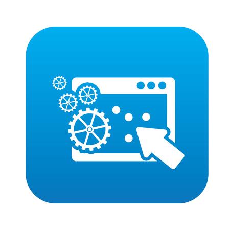 click the icon: Pay per click icon on blue button