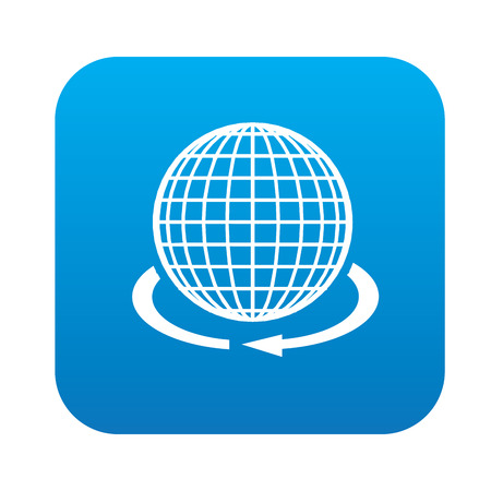 parallel: Global icon on blue button